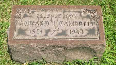 CAMPBELL, HOWARD J. - Lucas County, Ohio | HOWARD J. CAMPBELL - Ohio Gravestone Photos