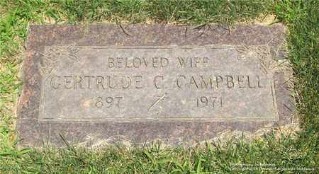 YENOR CAMPBELL, GERTRUDE C. - Lucas County, Ohio | GERTRUDE C. YENOR CAMPBELL - Ohio Gravestone Photos