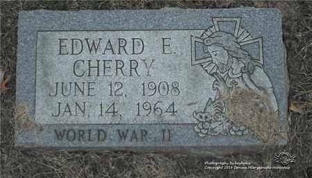 CHERRY, EDWARD E. - Lucas County, Ohio | EDWARD E. CHERRY - Ohio Gravestone Photos