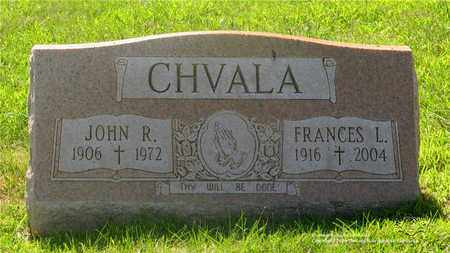 CHVALA, FRANCES L. - Lucas County, Ohio | FRANCES L. CHVALA - Ohio Gravestone Photos