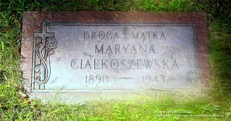 CIALKOSZEWSKA, MARYANNA - Lucas County, Ohio | MARYANNA CIALKOSZEWSKA - Ohio Gravestone Photos