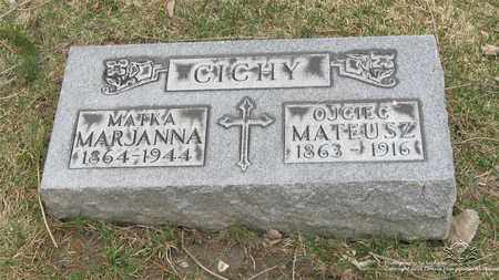 CICHY, MATEUS - Lucas County, Ohio | MATEUS CICHY - Ohio Gravestone Photos