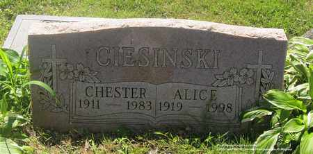 CIESINSKI, ALICE - Lucas County, Ohio | ALICE CIESINSKI - Ohio Gravestone Photos