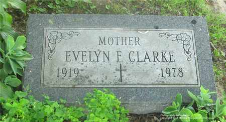 CLARKE, EVELYN F. - Lucas County, Ohio | EVELYN F. CLARKE - Ohio Gravestone Photos