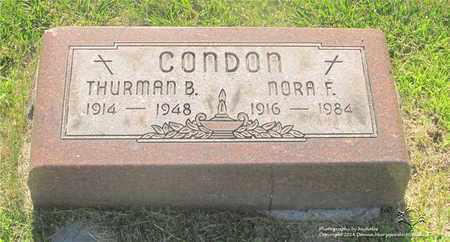 CONDON, NORA F. - Lucas County, Ohio | NORA F. CONDON - Ohio Gravestone Photos