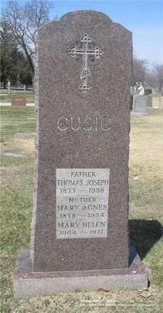 CUSIC, THOMAS JOSEPH - Lucas County, Ohio | THOMAS JOSEPH CUSIC - Ohio Gravestone Photos