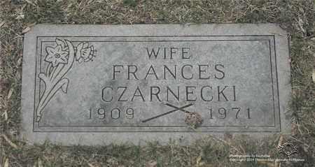 CZARNECKI, FRANCES - Lucas County, Ohio | FRANCES CZARNECKI - Ohio Gravestone Photos