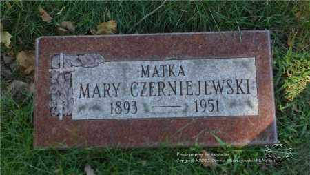 CZERNIEJEWSKI, MARY - Lucas County, Ohio | MARY CZERNIEJEWSKI - Ohio Gravestone Photos