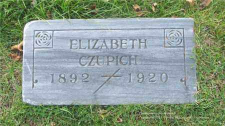 CZUPICH, ELIZABETH - Lucas County, Ohio | ELIZABETH CZUPICH - Ohio Gravestone Photos