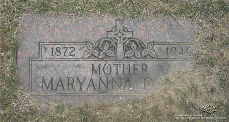 DABEK, MARYANNA - Lucas County, Ohio | MARYANNA DABEK - Ohio Gravestone Photos