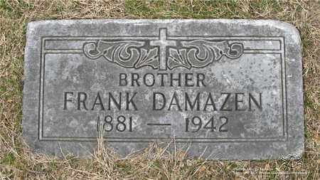 DAMAZEN, FRANK - Lucas County, Ohio | FRANK DAMAZEN - Ohio Gravestone Photos
