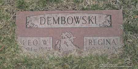 DEMBOWSKI, REGINA - Lucas County, Ohio | REGINA DEMBOWSKI - Ohio Gravestone Photos