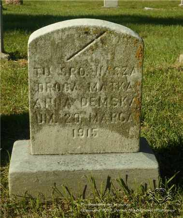 KINOWSKI DEMSKA, ANNA - Lucas County, Ohio | ANNA KINOWSKI DEMSKA - Ohio Gravestone Photos