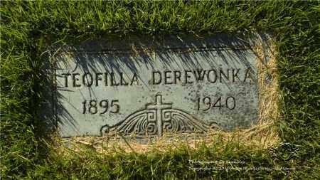 DEREWONKA, TEOFILLA - Lucas County, Ohio | TEOFILLA DEREWONKA - Ohio Gravestone Photos