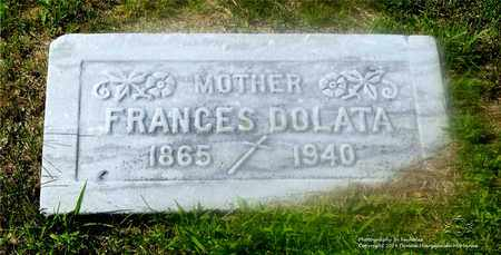 DOLATA, FRANCES - Lucas County, Ohio | FRANCES DOLATA - Ohio Gravestone Photos