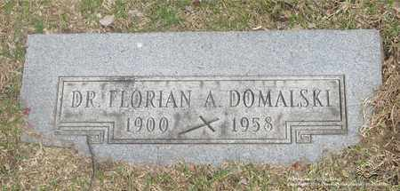 DOMALSKI, FLORIAN A. - Lucas County, Ohio | FLORIAN A. DOMALSKI - Ohio Gravestone Photos