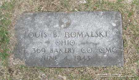 DOMALSKI, LOUIS B. - Lucas County, Ohio | LOUIS B. DOMALSKI - Ohio Gravestone Photos