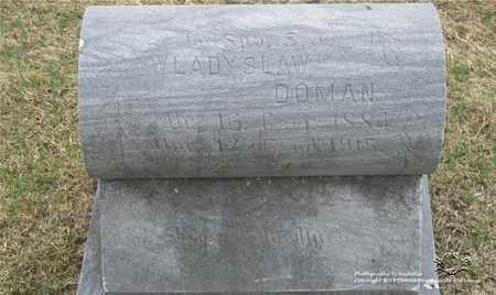 DOMAN, WLADYSLAW - Lucas County, Ohio | WLADYSLAW DOMAN - Ohio Gravestone Photos