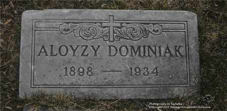 DOMINIAK, ALOYZY - Lucas County, Ohio | ALOYZY DOMINIAK - Ohio Gravestone Photos