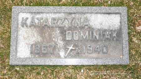DOMINIAK, KATARZYNA - Lucas County, Ohio | KATARZYNA DOMINIAK - Ohio Gravestone Photos