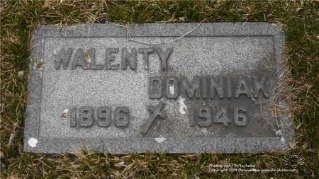 DOMINIAK, WALENTY - Lucas County, Ohio | WALENTY DOMINIAK - Ohio Gravestone Photos