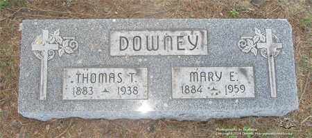 DOWNEY, MARY E. - Lucas County, Ohio | MARY E. DOWNEY - Ohio Gravestone Photos