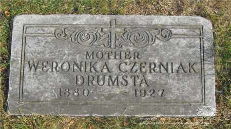 DRUMSTA, WERONIKA CZERNIAK - Lucas County, Ohio | WERONIKA CZERNIAK DRUMSTA - Ohio Gravestone Photos
