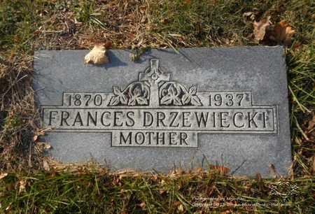 DRZEWIECKI, FRANCES - Lucas County, Ohio | FRANCES DRZEWIECKI - Ohio Gravestone Photos