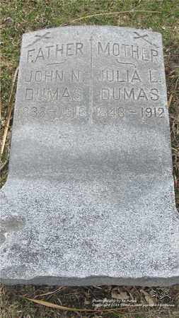 DUMAS, JULIA - Lucas County, Ohio | JULIA DUMAS - Ohio Gravestone Photos