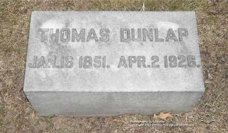 DUNLAP, THOMAS - Lucas County, Ohio | THOMAS DUNLAP - Ohio Gravestone Photos