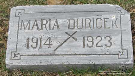 DURICEK, MARIA - Lucas County, Ohio | MARIA DURICEK - Ohio Gravestone Photos