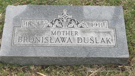 DUSLAK, BRONISLAWA - Lucas County, Ohio | BRONISLAWA DUSLAK - Ohio Gravestone Photos