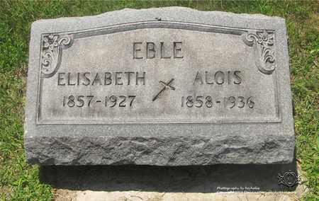 CRONENBERG EBLE, ELISABETH - Lucas County, Ohio | ELISABETH CRONENBERG EBLE - Ohio Gravestone Photos
