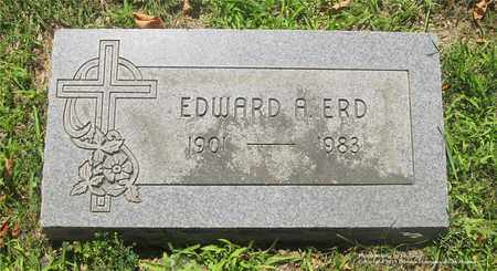 ERD, EDWARD A. - Lucas County, Ohio | EDWARD A. ERD - Ohio Gravestone Photos