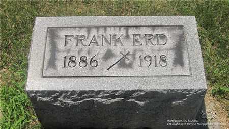 ERD, FRANK - Lucas County, Ohio | FRANK ERD - Ohio Gravestone Photos