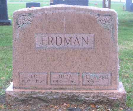ERDMAN, JULIA - Lucas County, Ohio | JULIA ERDMAN - Ohio Gravestone Photos