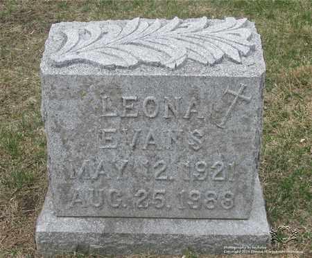 EVANS, LEONA - Lucas County, Ohio | LEONA EVANS - Ohio Gravestone Photos