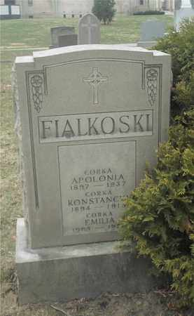 FIALKOSKI, APOLONIA - Lucas County, Ohio | APOLONIA FIALKOSKI - Ohio Gravestone Photos
