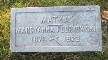 FLORKOWSKI, MARCYANNA - Lucas County, Ohio | MARCYANNA FLORKOWSKI - Ohio Gravestone Photos