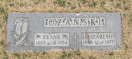 OZANSKI, FRANK - Lucas County, Ohio | FRANK OZANSKI - Ohio Gravestone Photos