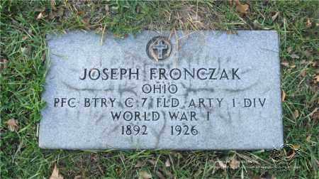 FRONCZAK, JOSEPH - Lucas County, Ohio | JOSEPH FRONCZAK - Ohio Gravestone Photos