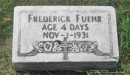 FUEHR, FREDERICK - Lucas County, Ohio | FREDERICK FUEHR - Ohio Gravestone Photos