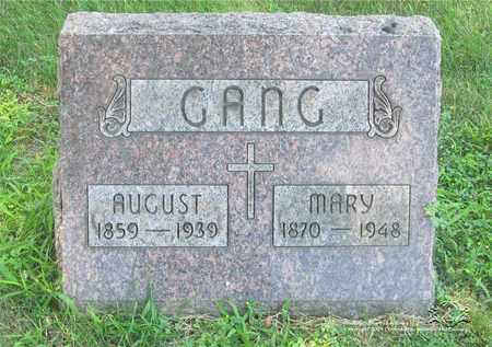 GANG, AUGUST - Lucas County, Ohio | AUGUST GANG - Ohio Gravestone Photos