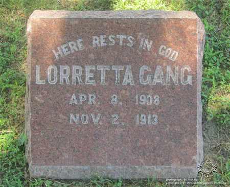 GANG, LORRETTA - Lucas County, Ohio | LORRETTA GANG - Ohio Gravestone Photos