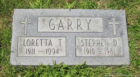 GARRY, STEPHEN D. - Lucas County, Ohio | STEPHEN D. GARRY - Ohio Gravestone Photos