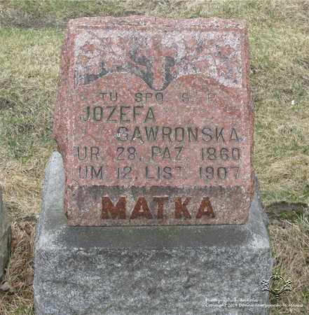 GAWRONSKA, JOZEFA - Lucas County, Ohio | JOZEFA GAWRONSKA - Ohio Gravestone Photos