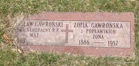 GAWRONSKA, ZOFIA - Lucas County, Ohio | ZOFIA GAWRONSKA - Ohio Gravestone Photos