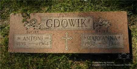 GDOWIK, MARYANNA - Lucas County, Ohio | MARYANNA GDOWIK - Ohio Gravestone Photos
