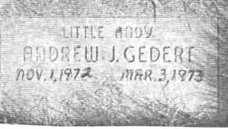 GEDERT, ANDREW J. - Lucas County, Ohio | ANDREW J. GEDERT - Ohio Gravestone Photos