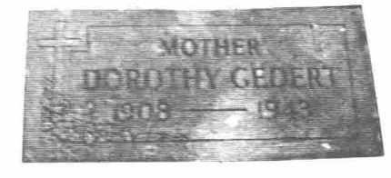 SCHMITT GEDERT, DOROTHY ADELAIDE - Lucas County, Ohio | DOROTHY ADELAIDE SCHMITT GEDERT - Ohio Gravestone Photos